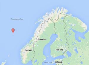 Figur 1: Posisjonen til stasjon M i Norskehavet